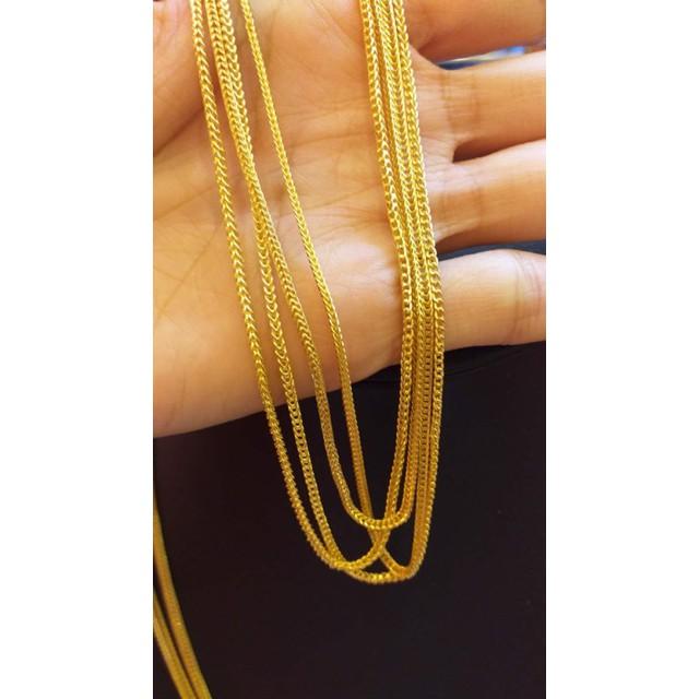 ราคาพิเศษ◐KMDGold สร้อยคอทองคำแท้มาตรฐานทองเยาวราช 1สลึงลายเบนซ์กระดูกงู