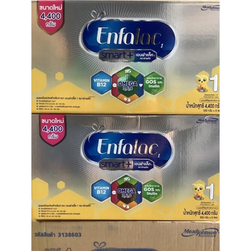[ขายยกลัง-2กล่อง] นมผง เอนฟาแล็ค สมาร์ทพลัส สูตร 1 4400 ก ขายยกลัง Enfalac