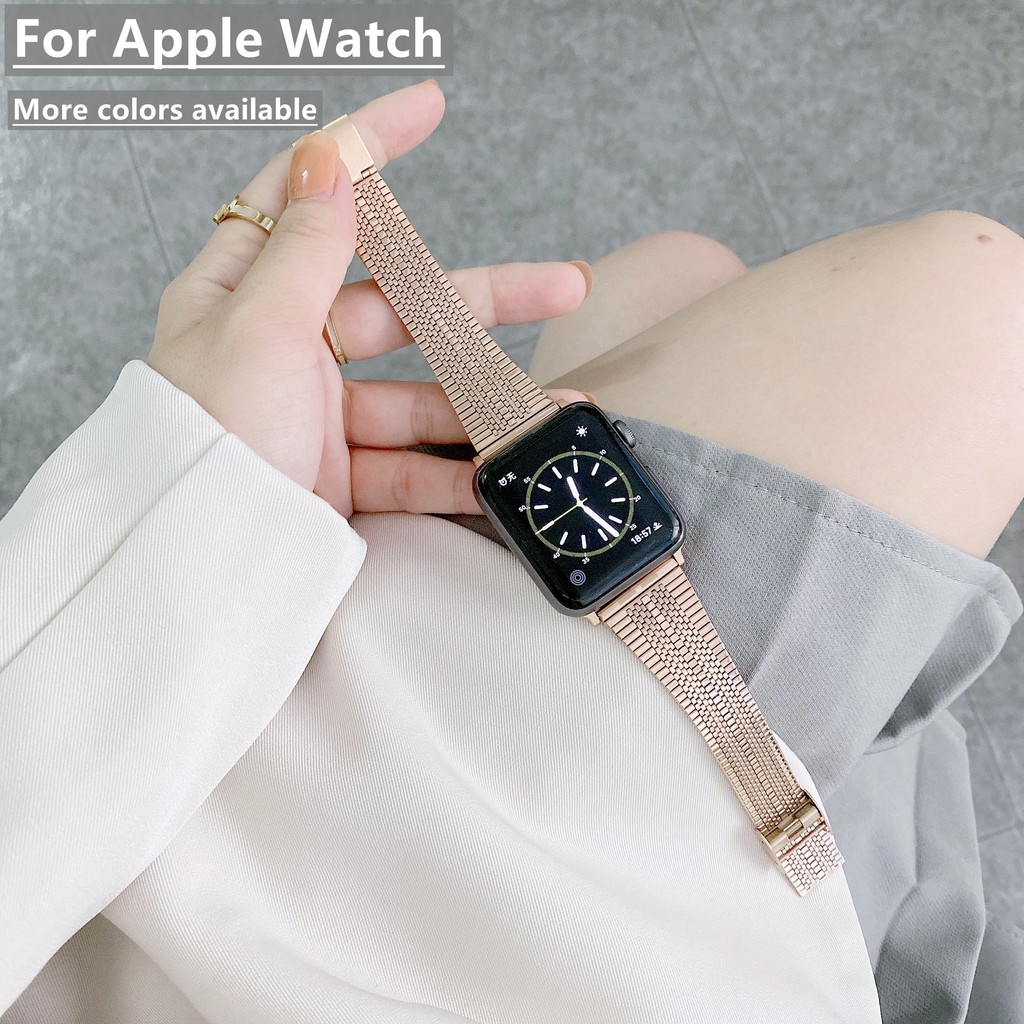 Apple Watch Straps Stainless Steel Iwatch Strap Apple Watch Series SE/6/5/4/3/2, Apple Watch SE Wrist Band Size 38mm 40m