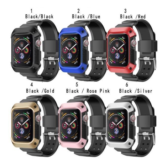 ✔۞✣🔥ลดเพิ่ม 38 ใส่โค้ด MT30HCSEUL🔥สาย Apple Watch Sport TPU 6 สี Series 1/2/3/4/5/6/SE ขนาด 38,40,42,44 mm.