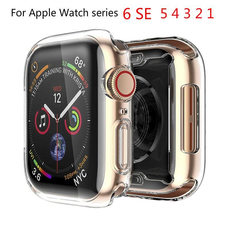 เคสป้องกันรอยหน้าจอ สำหรับ Apple Watch Series 6 SE 5 4 3 2 1 ขนาด 38 มม. 42 มม. 40มม. 44มม.