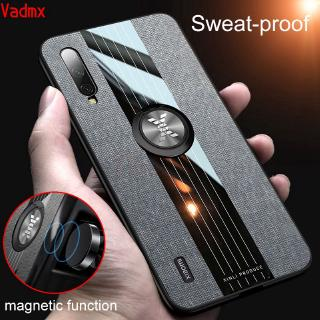 Review Xiaomi Mi A3 Lite 9 SE Max 3 2 8 Lite A2 Case Magnetic Finger Ring Holder Fabric Cloth Matte Soft Frame Hard Back Cover