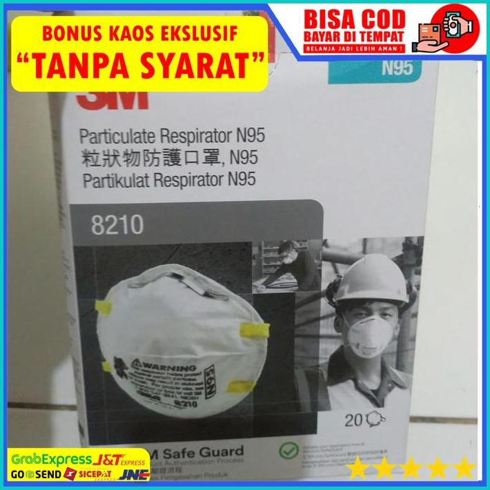 Bonus Mask 3m 8210 N95 กล่องดั้งเดิม 100% C.O.D