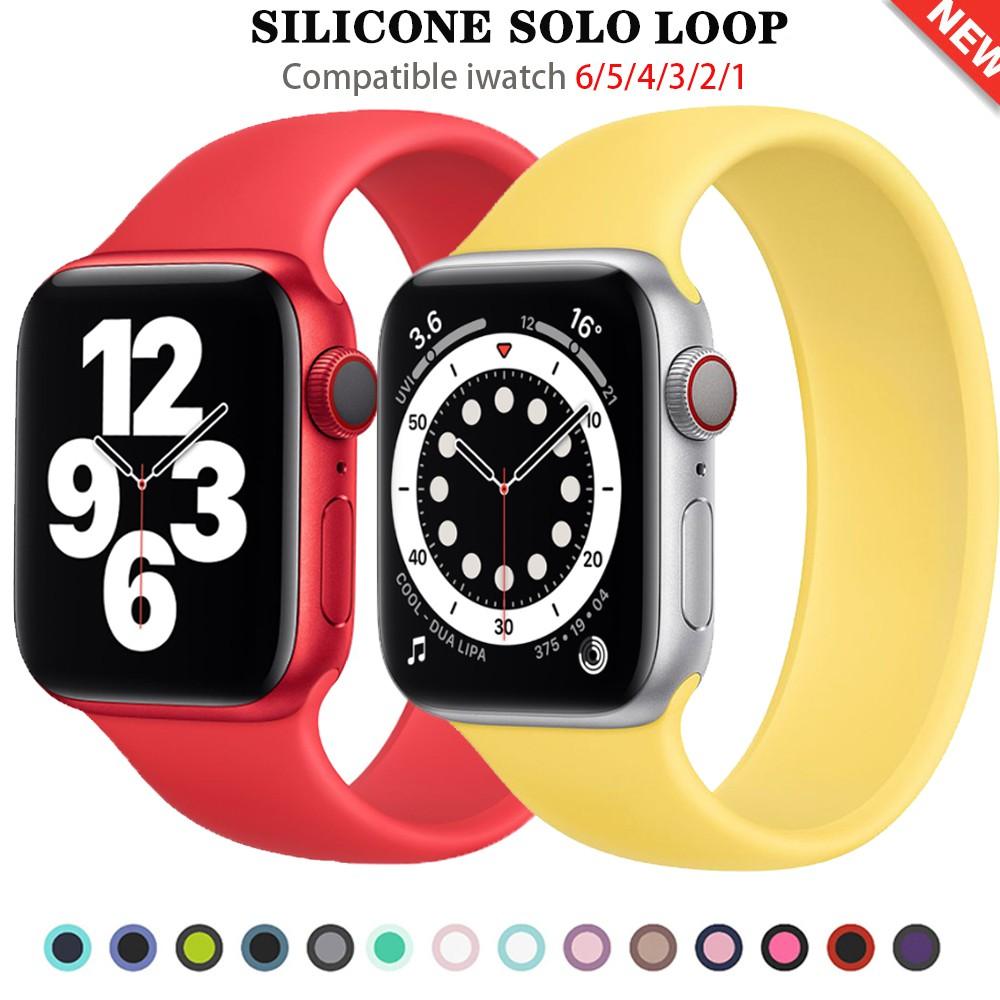 เคสซิลิโคน สำหรับ Apple Watch Series รุ่น SE 6 5 4 3 2 1 ขนาด 38 มม 40 42 44 สายนาฬิกาข้อมือ สาย applewatch