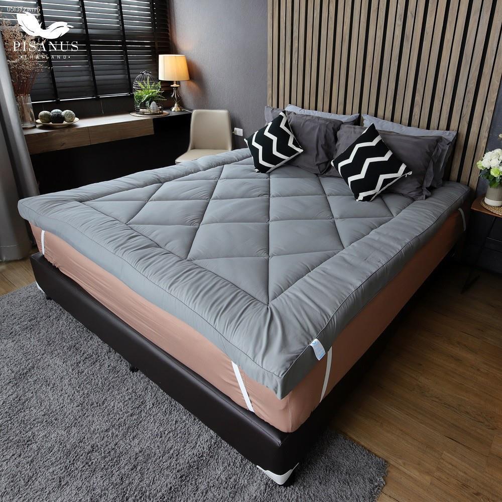 ที่นอน topper topper 5 ฟุต Lowest price◙❐◆Topper ขนห่านเทียม รุ่นนุ่มแน่น(3.5 ฟุต) (สีเทา) ท็อปเปอร์ เบาะรองที่นอนเพื่อส