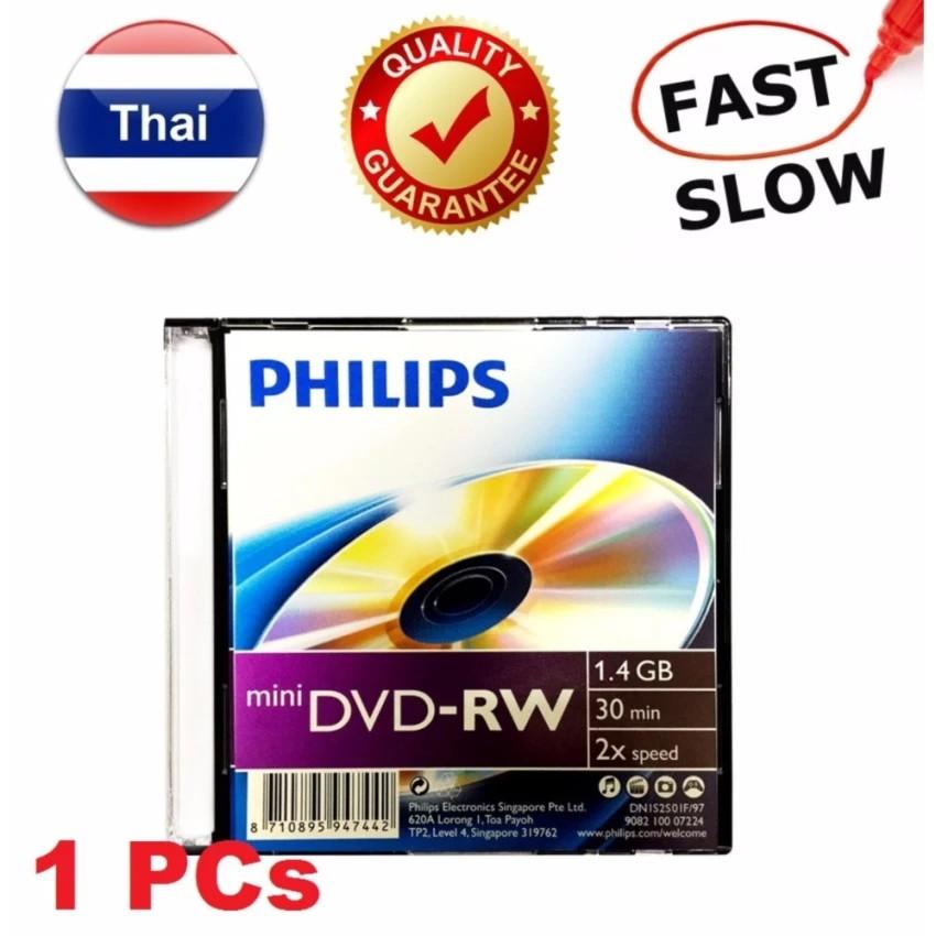 แผ่น Philips Mini DVD-RW ( ชนิด ลบ แล้ว เขียนใหม่ ได้ ) เวลา 30 นาที