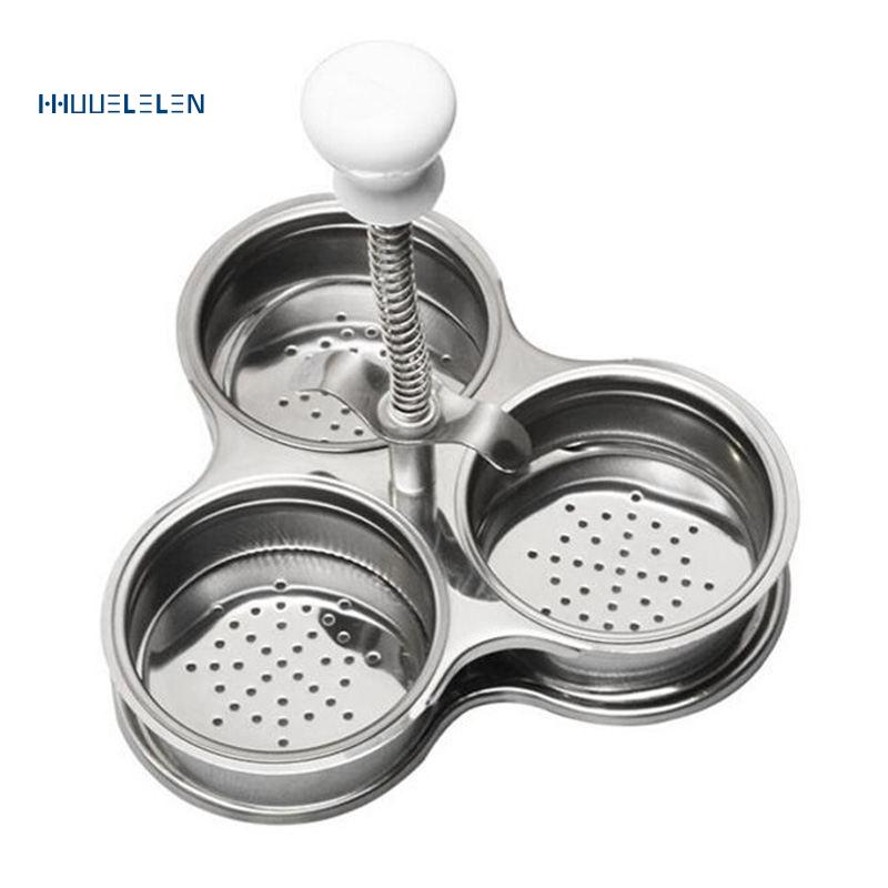 Stainless Steel Microwave Egg Poachers Cooker Multi-Function Boiler Steamer Tool