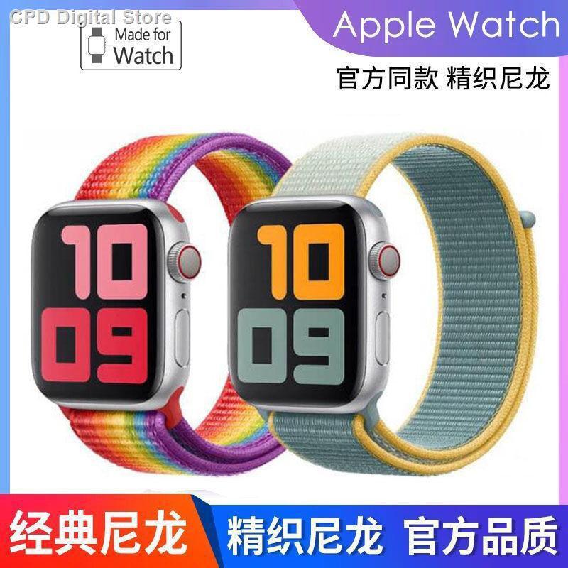 【อุปกรณ์เสริมของ applewatch】◕☼ใช้ได้กับสาย Applewatch Strap iwatch สายนาฬิกา Apple ไนลอนรุ่น S6 / 5/4/3/2 SE