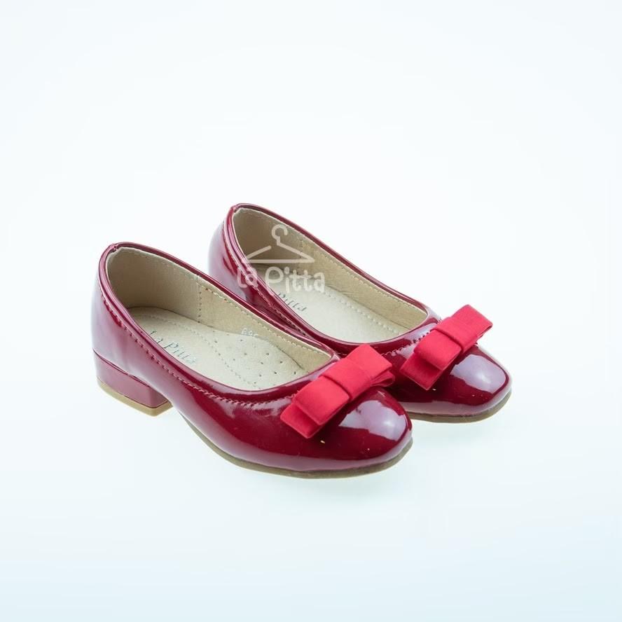 รองเท้าเด็กผู้หญิงคัชชู 3 สี ดำ แดง ครีม
