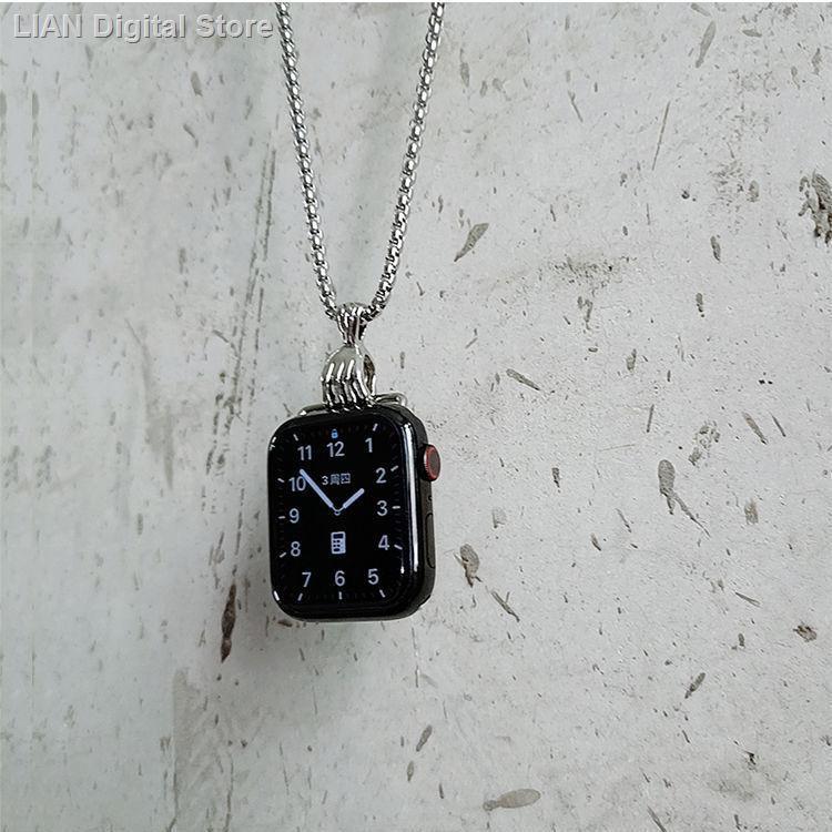 【อุปกรณ์เสริมของ applewatch】ﺴ[ Trend Iwatch สร้อยคอใช้ได้กับ Apple Watch สายแขวน Applewatch สายคล้องโลหะจี้