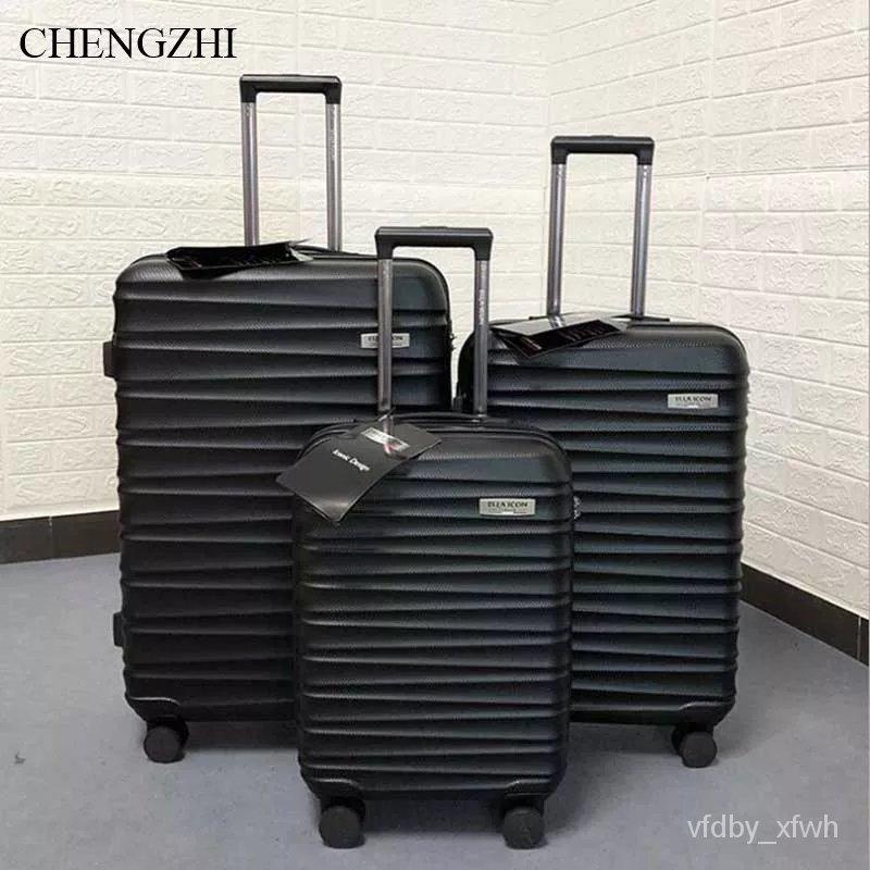"""CHENGZHI 20 """"24"""" 28 """"นิ้วผู้ชายธุรกิจ ABS Rolling ชุดกระเป๋าเดินทางรถเข็นกระเป๋าเดินทาง SPINNER บนล้อ"""