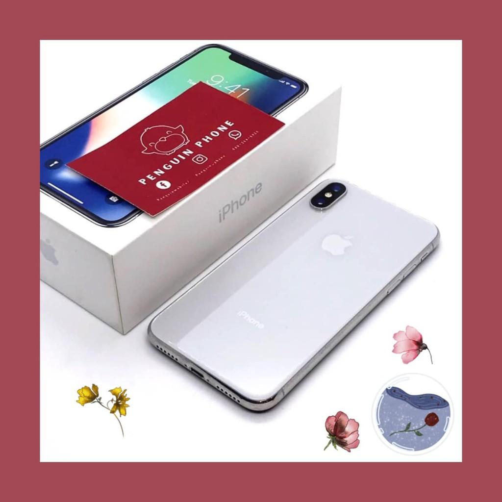 iPhone X 64GB สี Silver มือสอง สภาพ 95% [ไอโฟนมือสอง iPhoneมือสอง ไอโฟนมือ2 ไอโฟนราคาถูก โทรศัพท์มือสอง มือสอง]