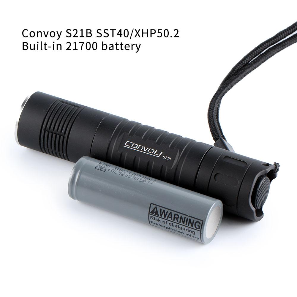 กรุณาชำระเงินด้วย CODBlack convoy S21B with SST40 / XHP50.2 ,copper DTP/ ar-coated , Temperature protection,21700 flashl