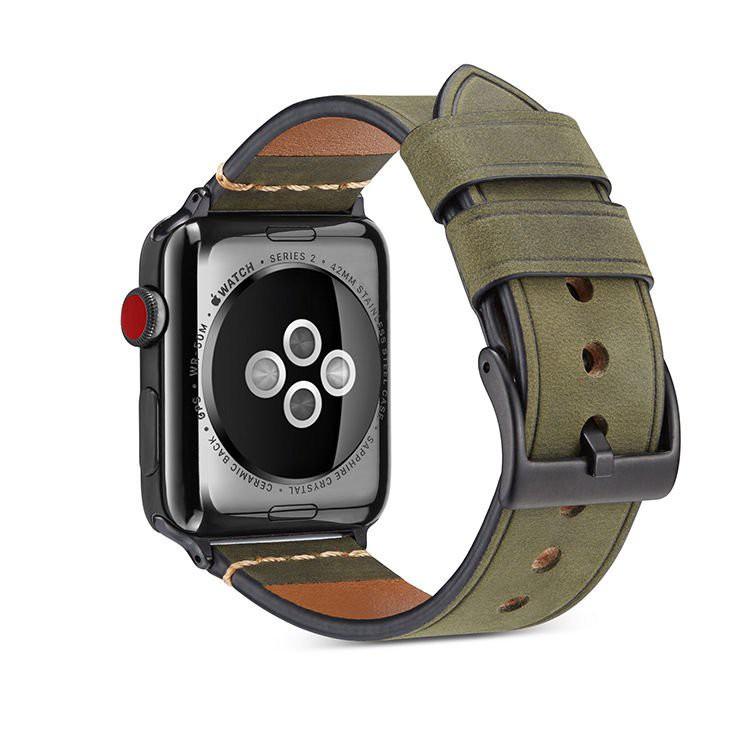 สายนiwatch5 าฬิกา applewatch สาย applewatch สาย applewatch แท้ สายหนังแท้สำหรับ Apple WatchApple watchเคลือบหนังนิ่มเข็ม