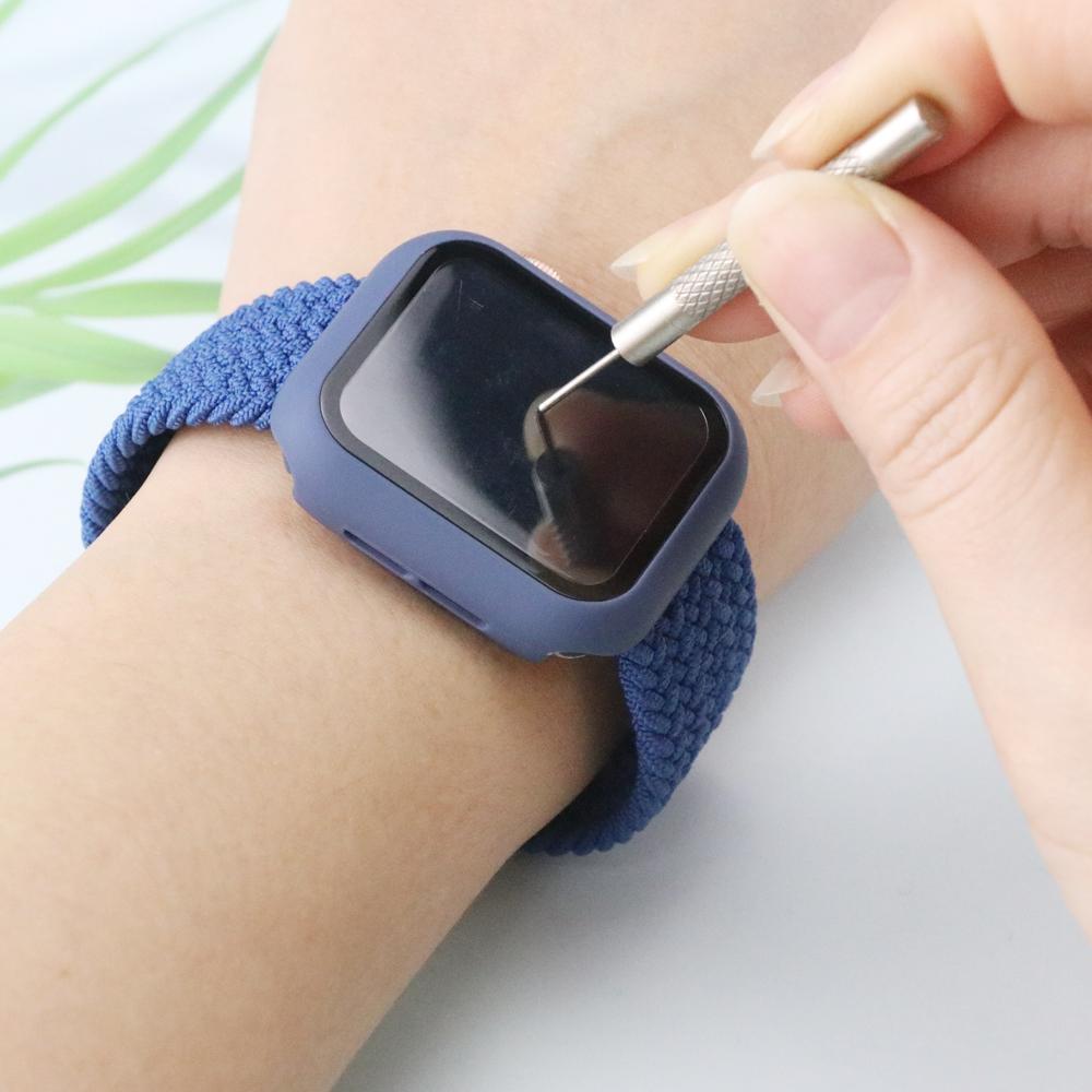 Case Apple Watch + ฟิลม์กระจก+braided สาย applewatch 44 มม 40 มม 42 มม 38 มม iwatch Series 6 se 5 4 3 2 1