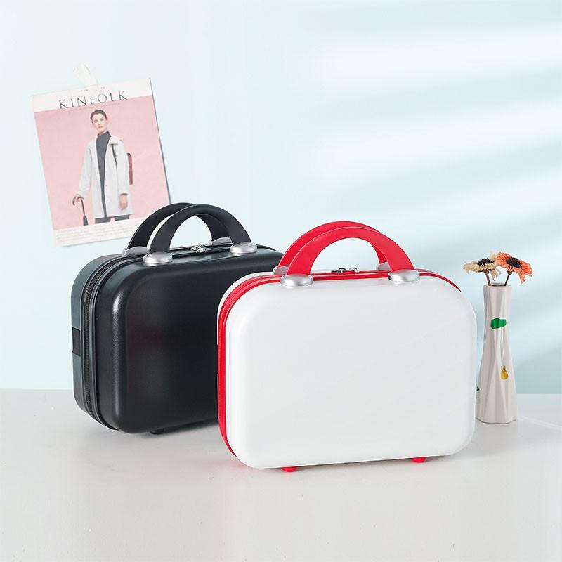 กระเป๋าเดินทางเด็กกระเป๋าเดินทางกระเป๋าเดินทางล้อลาก❏❄>กระเป๋าเดินทางขนาดเล็กขนาดเล็ก 14 นิ้ว กระเป๋าเครื่องสำอาง Person