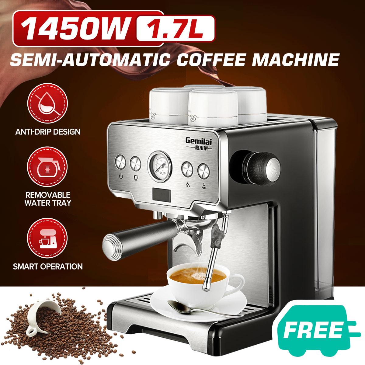 เครื่องทำกาแฟ กึ่งอัตโนมัติ แรงอัด 15 Bars