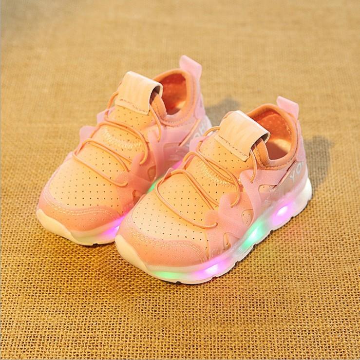 รองเท้า LED ส่องสว่างสำหรับเด็กเด็กชายและเด็กหญิงรองเท้