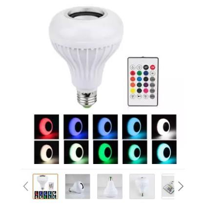 E27 Wireless Bluetooth 3.0 Lamp Bulb Speaker Ball Remote Control RGBW LED Light