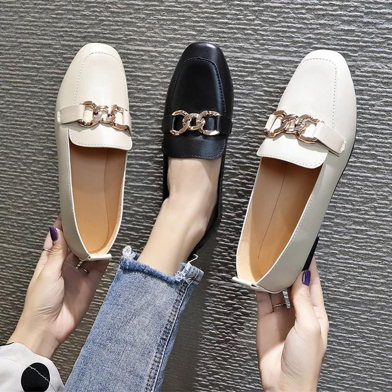 ❤️รองเท้าแฟชั่น รองเท้าผู้หญิง รองเท้าส้นแบนหัวแหลม รองเท้าคัชชู