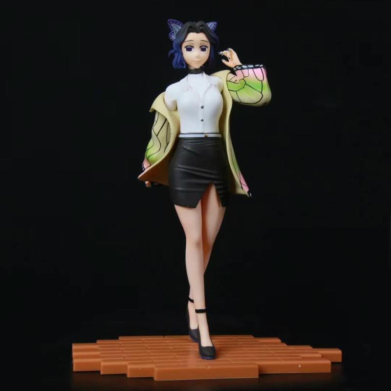 นักล่าปีศาจDevil's Blade Anime Figure Kochou Shinobu Sitting osition VC Action Figure Demon Slayer Kimetsu No Yaiba  Mod
