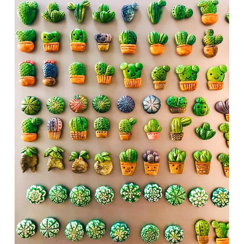 แม่เหล็กติดตู้เย็น ลายการ์ตูน ต้นกระบองเพชร cactus น่ารัก
