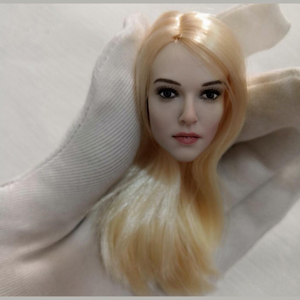 "KUMIK 1//6 Black Hair Female Head Sculpt Model KUMIK18-31 F 12/"" Action Figure"