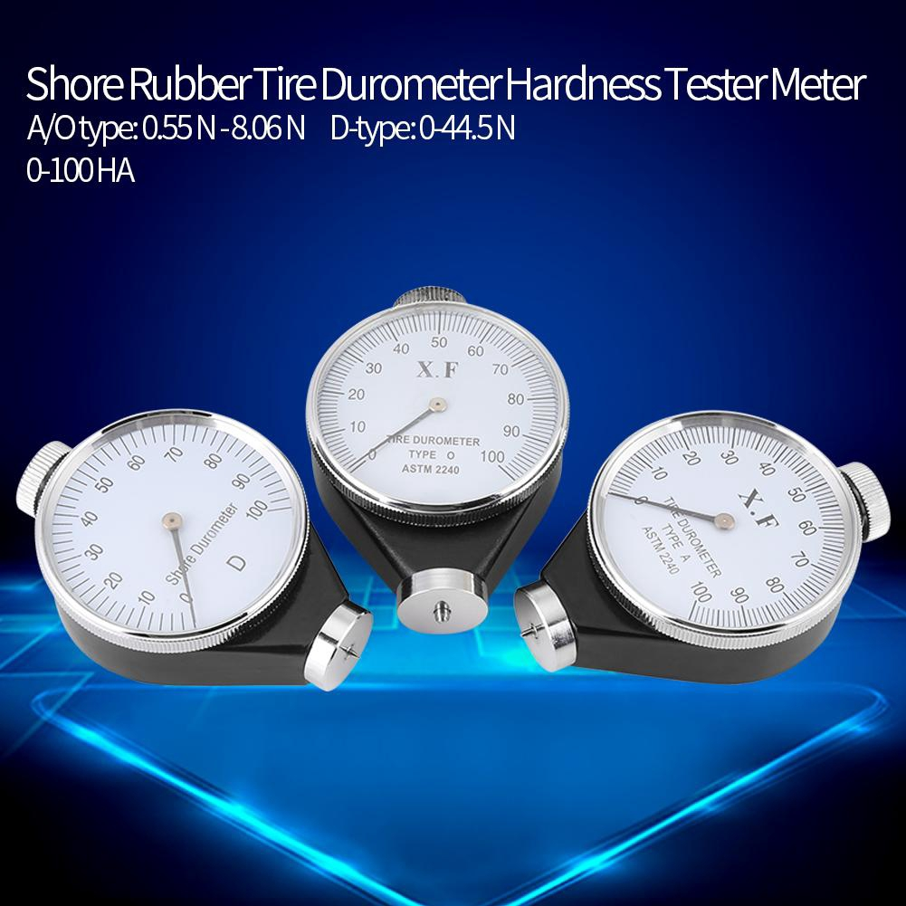 【สต็อคพร้อม】HA Meter Tester Hardness 0-100 Rubber Durometer Type Tire A/O/D Shore