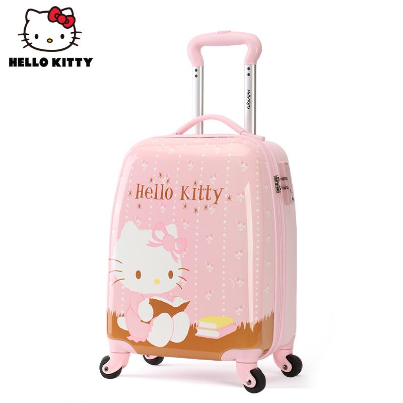 ☯ⅾกระเป๋าใส่รถเข็นเด็ก  กระเป๋าเดินทางกลางแจ้งHelloKittyกระเป๋าเด็กสาวรถเข็นกระเป๋าล้อสากลเจ้าหญิงการ์ตูนกระเป๋าเดินทาง1