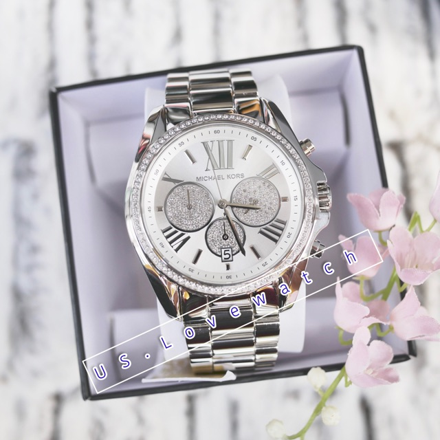 850dd2008fab Michael Kors Michael Kors Women s Bradshaw Pavé Silver-Tone Watch MK6537