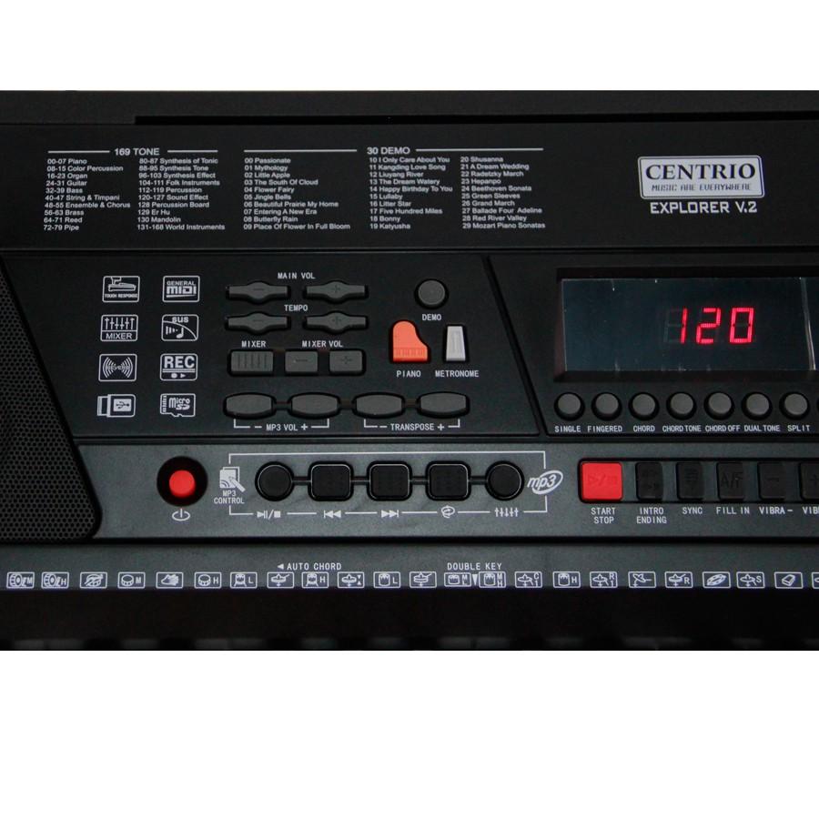 Centrio Electronic Keyboard คีย์บอร์ด 61 คีย์ รุ่น EXPLORER V 2