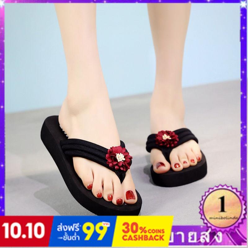 ⭐👠รองเท้าส้นสูง หัวแหลม ส้นเข็ม ใส่สบาย New Fshion รองเท้าคัชชูหัวแหลม  รองเท้าแฟชั่นใหม่รองเท้าแตะผู้หญิงสวมใส่รองเท้าแ