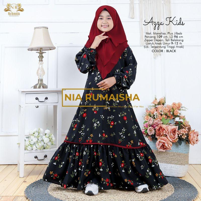 Azza ผ้าคลุมฮิญาบเด็กไซต์ใหญ่ By Nia Rumaisha
