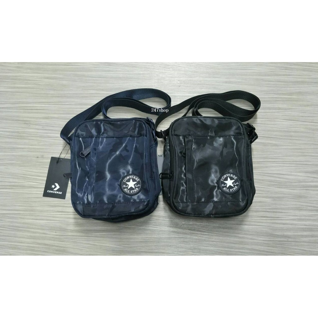 26afa0a394 กระเป๋าคอนเวิร์ส CONVERSE DELUXE CAMO MINI BAG BLACK 12-6001395  พร้อมส่ง แท้100%  สต็อคพร้อม