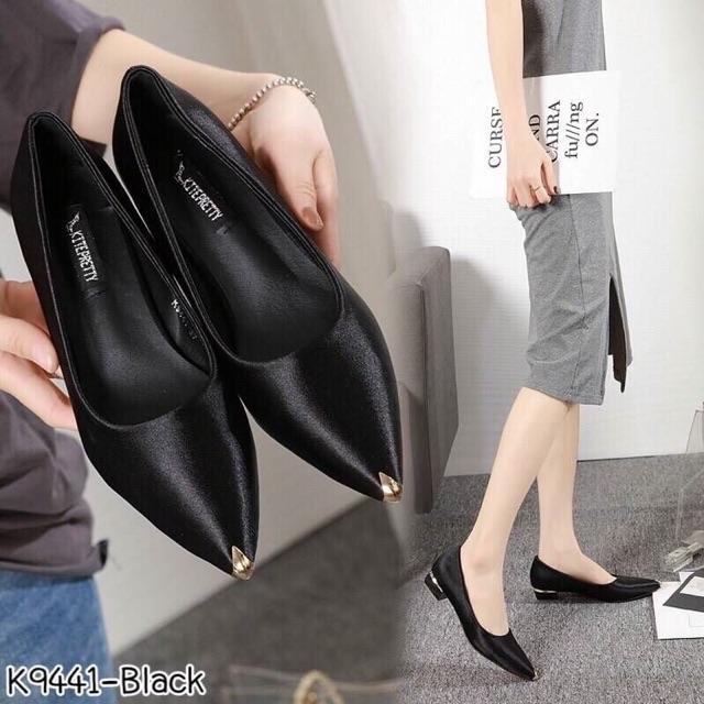 รองเท้าคัชชู (ดำ/ครีม/เทา/แดง)🥰