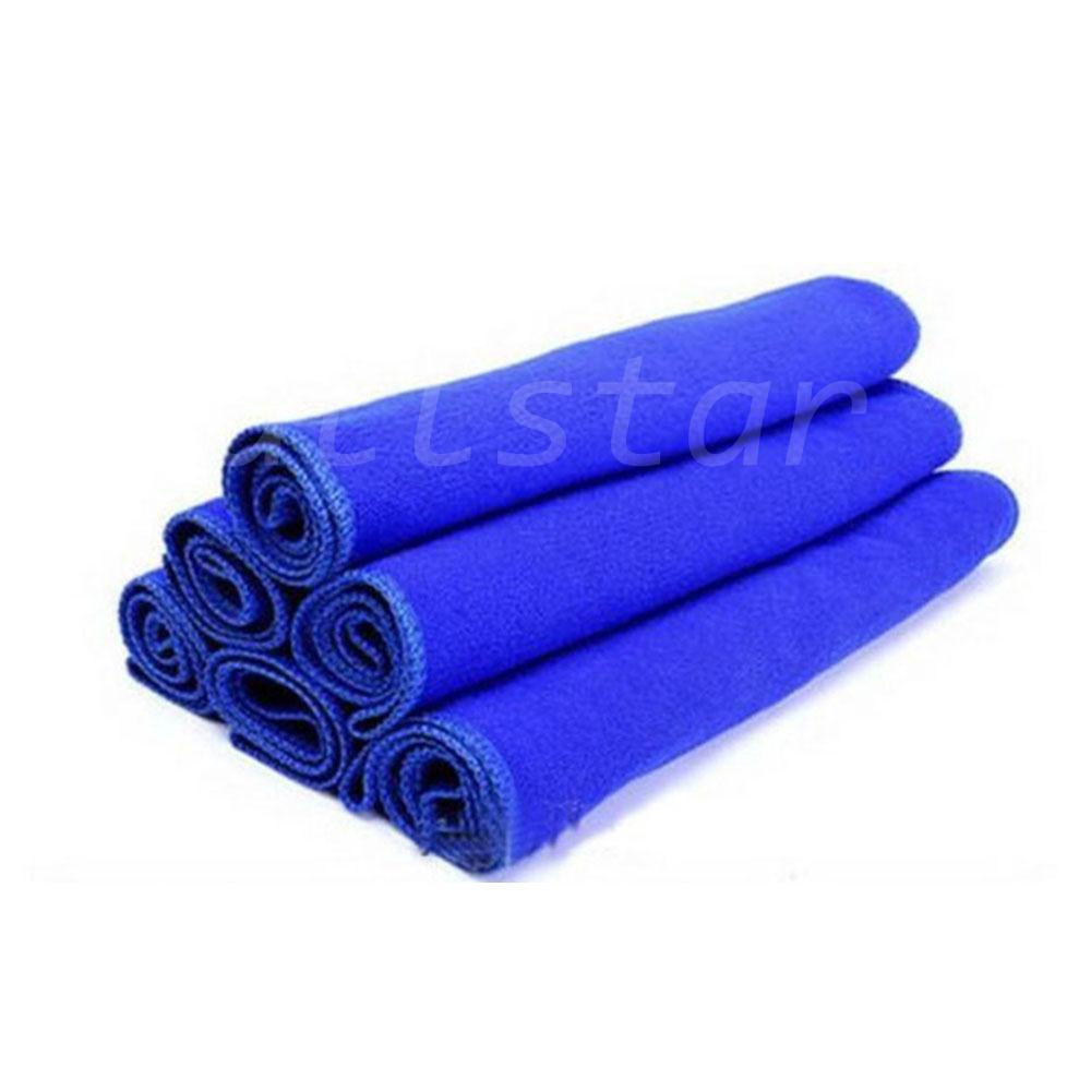 Blue - 10 pcs Transer Microfiber Clean Cloth Wipes for Car Auto Interiors /& Exteriors Cleaning Car Wash Towels 10 Pcs