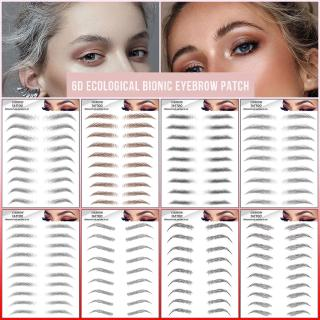 ทบทวนMagic 4D Hair-like Brown Black Eyebrow Tattoo Sticker / Waterproof Lasting False Eyebrows Makeup Cosmetic / Korean Grooming Shaping Water Transfer Eyebrow Enhancers Sticke