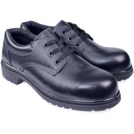รองเท้าคัชชูผู้ชาย รองเท้าหนังผู้ชาย รองเท้านิรภัย  LE ดำ พื้น PU | PANGOLIN |