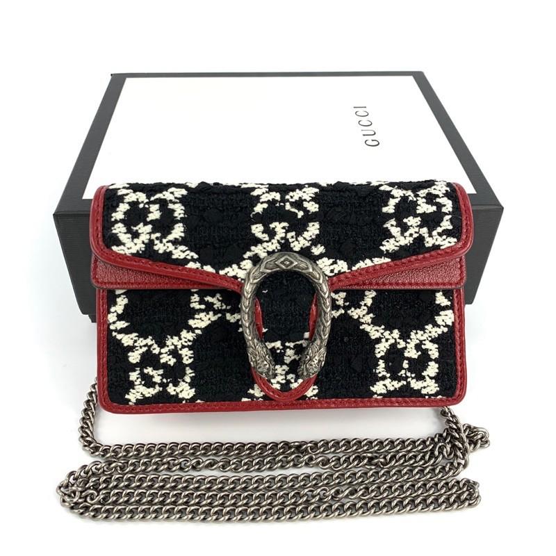 ถูกที่สุด ของแท้ 100% Gucci Tweed Dionysus supermini