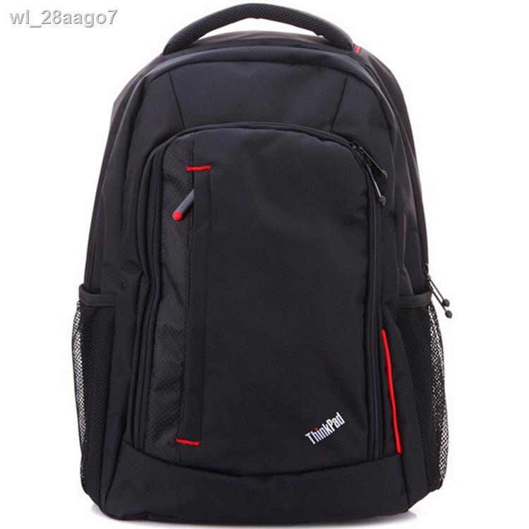 ◎☏¤กระเป๋าเป้กันกระแทกของ Lenovo 14 15.6 นิ้วกระเป๋าแล็ปท็อปธุรกิจกระเป๋าเป้สะพายหลังเดินทางสำหรับผู้ชาย 17.3 นิ้ว
