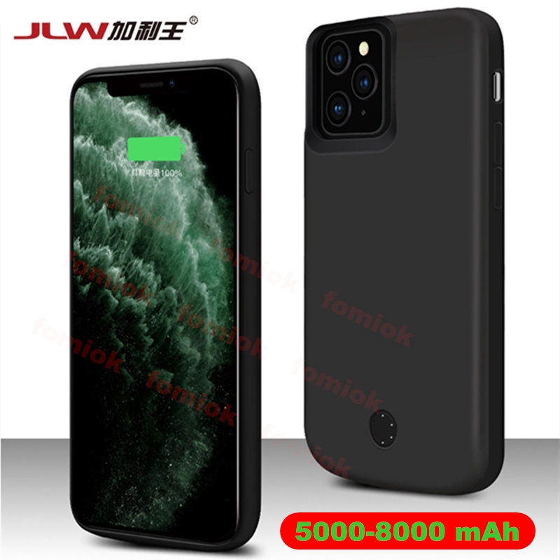 (Cod) [ JLW ] 6000mAh External Battery Phone Case for iPhone 12 Mini 11 Pro Max XR XS Max 8 8Plus 7 7 Plus 6s 6 + 5S SE Portable Power Bank Charger