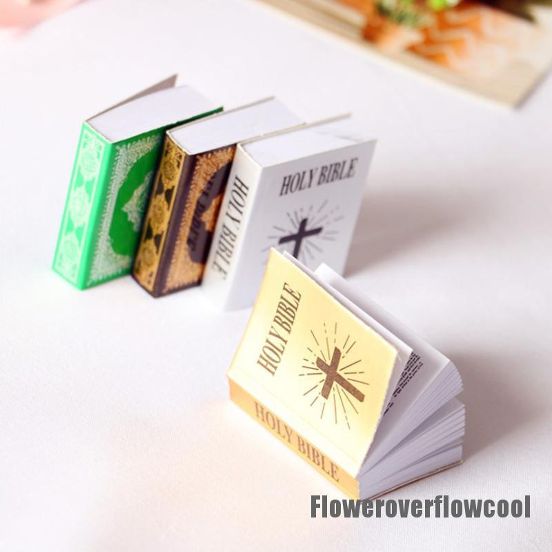Fcth 1pc 1/12 Dollhouse Miniature Mini Books Model Furniture Accessories