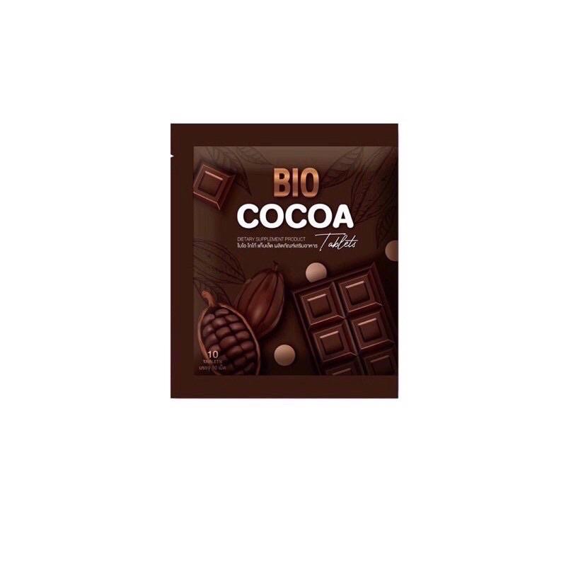 โกโก้อัดเม็ดดีท็อกซ์ ไบโอ Bio cocoa tablet 7 เม็ด. แบบซอง