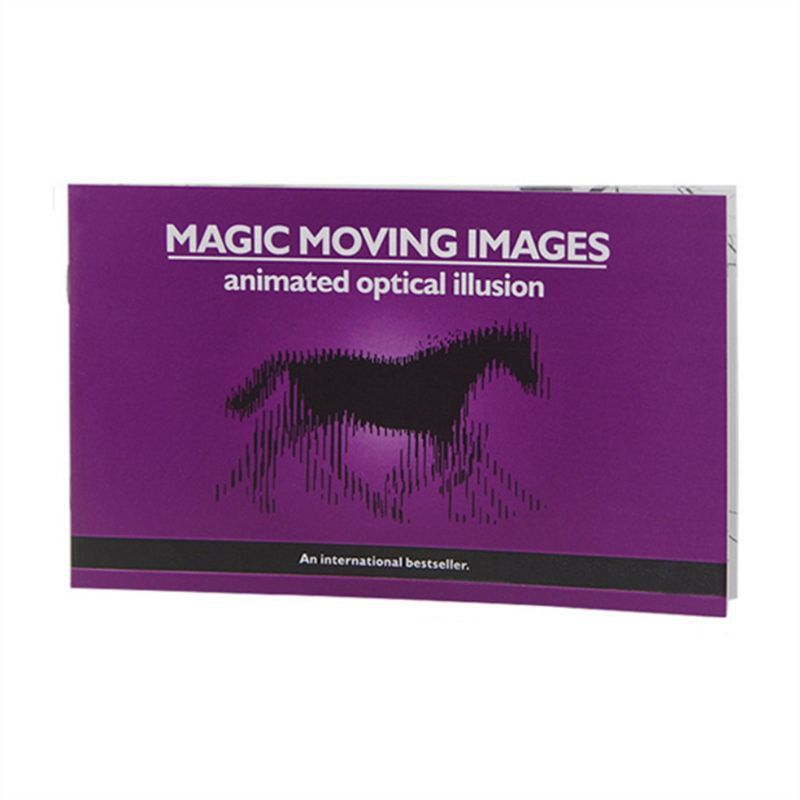 WIN.Thicker Version Magic Moving Images Books Magic Tricks Props Toys Animated Optical Illusions Kids Gifts
