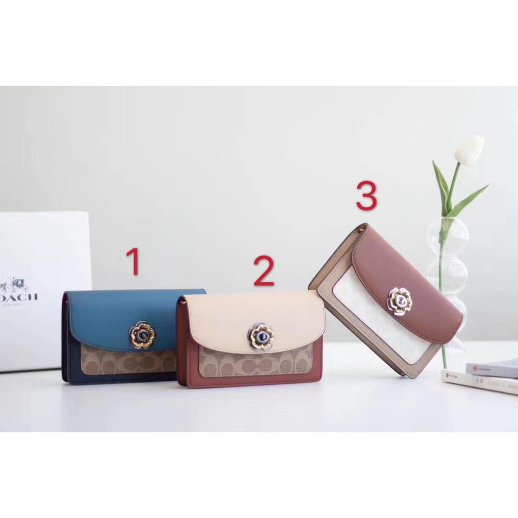 [MB]COACH Women's Camellia Parker19 Chain Bag 1680 New Leather Small Satchel Bag Coach Shoulder Bag Crossbody Bag
