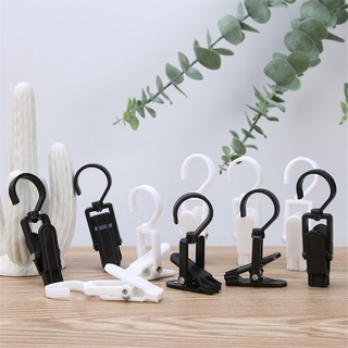 10PCS Multifunction Clip Hook 360 Degree Rotatable Spring Non-slip Windproof Fixed Hook For Tent Traps Home Clothing Accessories