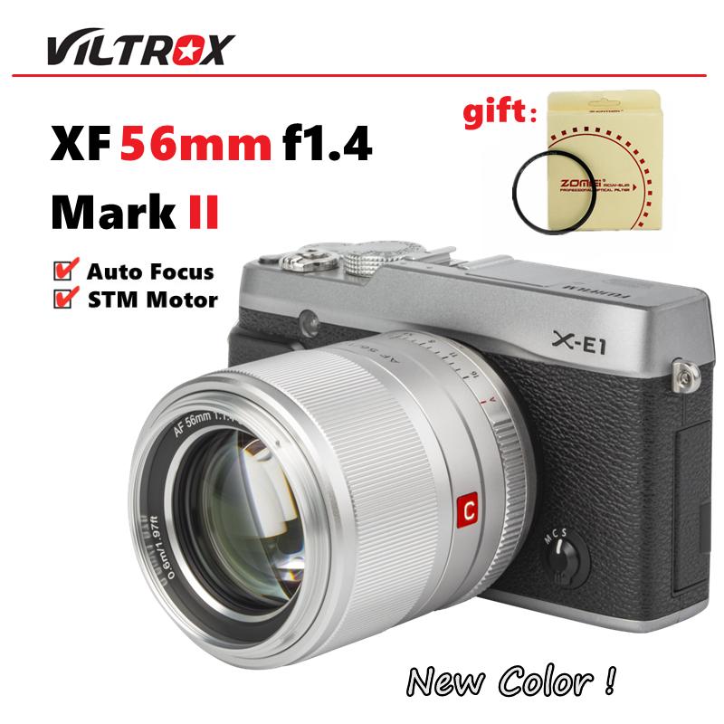 Viltrox 56mm F1.4 STM เลนส์ออโต้โฟกัสสําหรับกล้อง Fuji X-Mount Mirrorless cameras X-Pro3 X-T2 X-T3 X-T4 X-T20 Xt-30