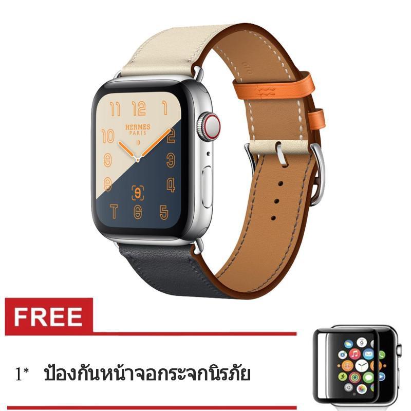 สายนาฬิกาข้อมือหนังสำหรับ iWatch Series 6 SE 5 4 3 2 1 สาย applewatch 38 มม. 42 มม.40 มม. 44 มม ueOX