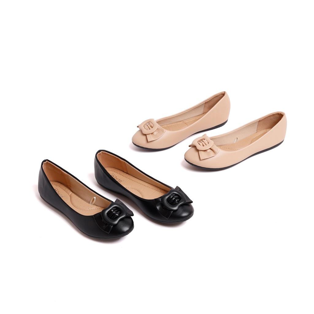 D'ARTE (ดาร์เต้) รองเท้าคัชชู รองเท้าคัชชูผู้หญิง รองเท้าคัชชูผู้หญิงแฟชั่น รองเท้าส้นแบบ รองเท้าส้นเตี้ย รุ่น D53-20401