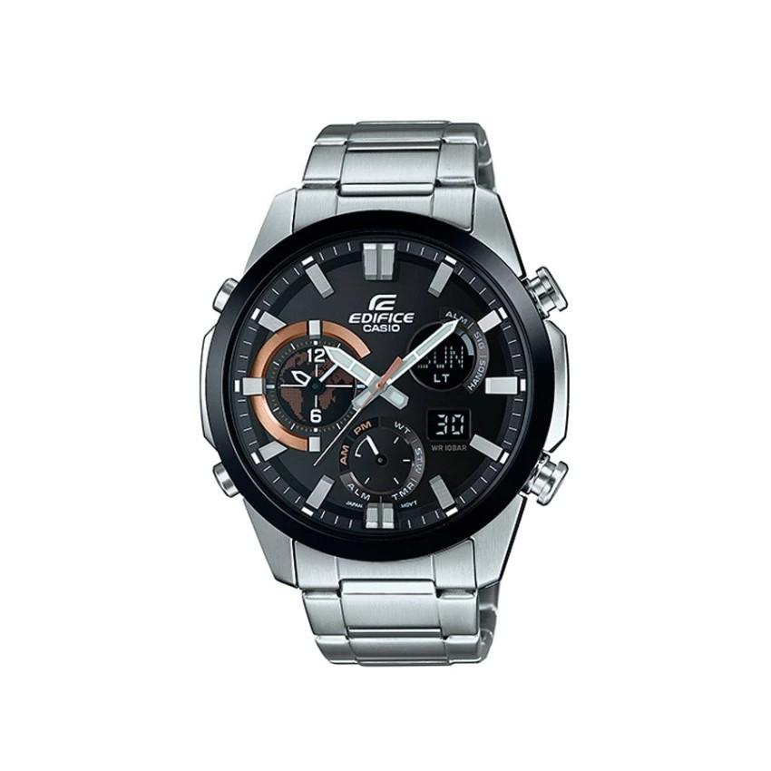 Casio Edifice นาฬิกาข้อมือผู้ชาย สีเงิน สายสแตนเลส รุ่น ERA-500DB-1A